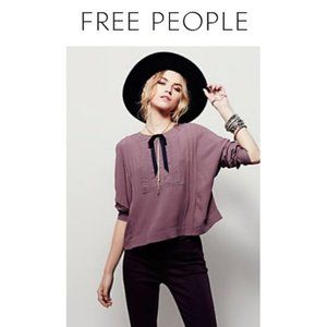 Free People Victorian Lace Top in Nutmeg